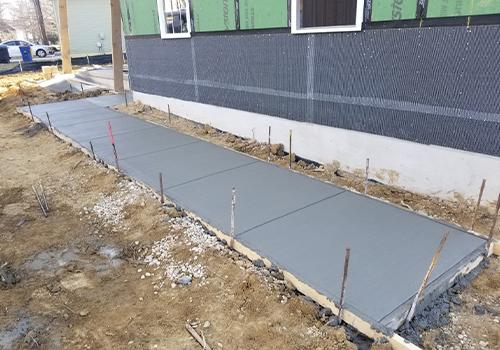 comcrete sidewalks